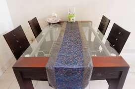 Full set meja makan 4 seater