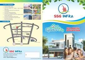 3990/- per yard near Ibrahimpatnam, 5 mins from Sagar highway