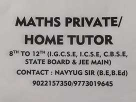 Maths private and home tuition