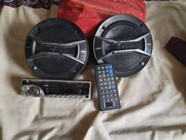 Jvc CD player and Sony speakers