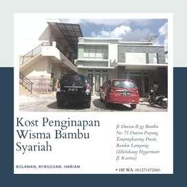 Kost Penginapan Wisma Bambu Syariah Durianpayung Tanjungkarang Pusat