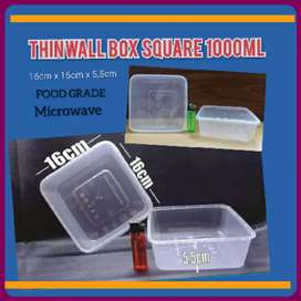 New Thinwal Container Square 1000ml