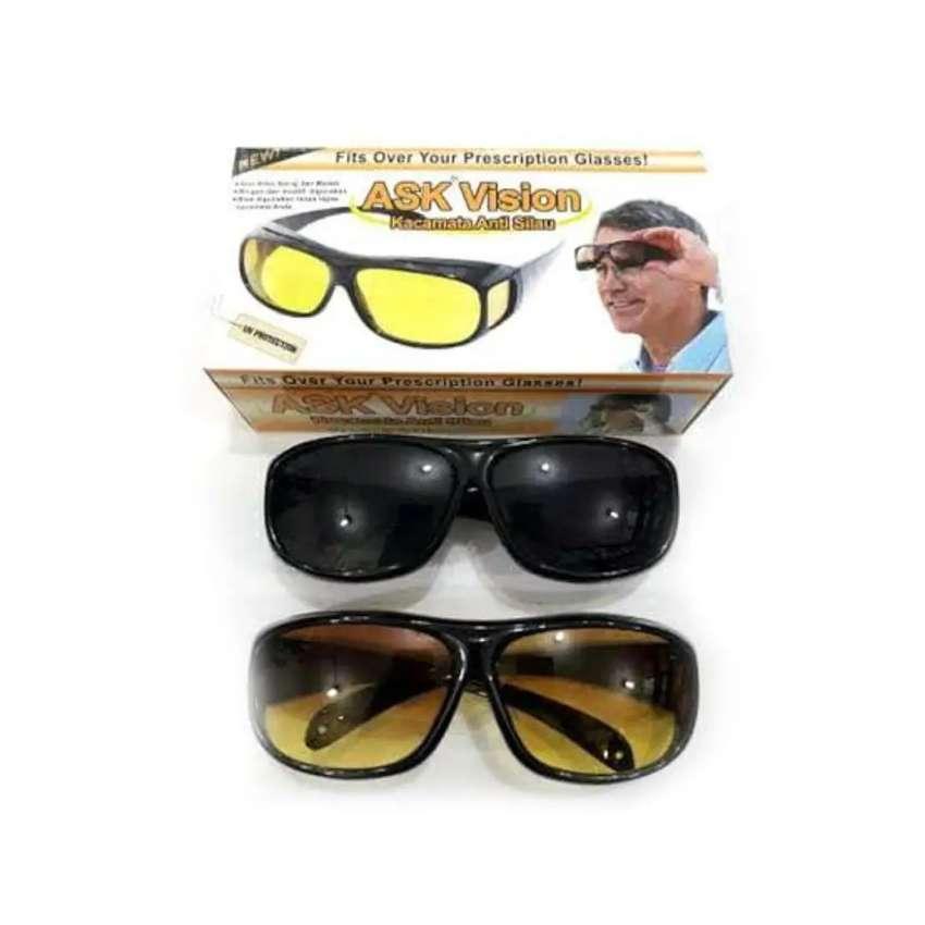 Kacamata anti silau siang malam