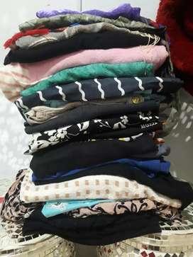 Pakaian wanita atasan jeans dress kimono jilbab