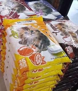 Pasir kucing gumpal wangi markotop 25 liter