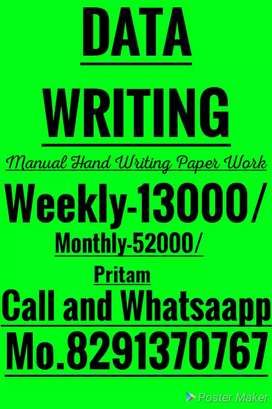 Simple writing capital letters Full time work
