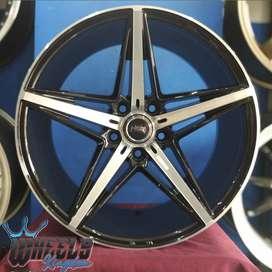 Velg modifikasi R18X8-9 H5X112 ET40 hsr wheels kingdom surabaya