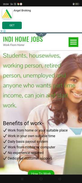 Without investment start working from home!!!