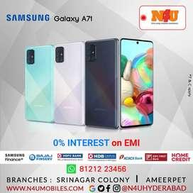 Samsung Galaxy a71 now available @ 0% ON EMI @N4U