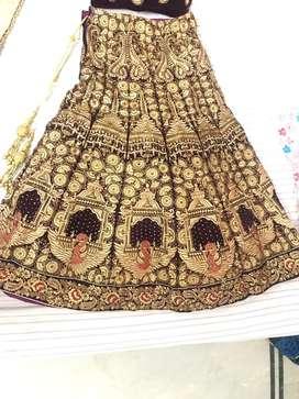 Bridal lehenga-rich velvet,only used once.