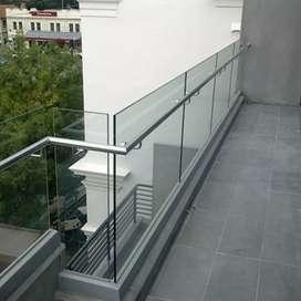 Balkon kaca dan stenlis 10013