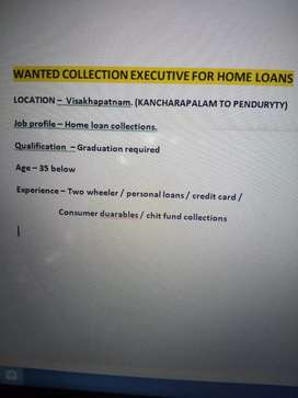 Wanted collection exectives for home loans