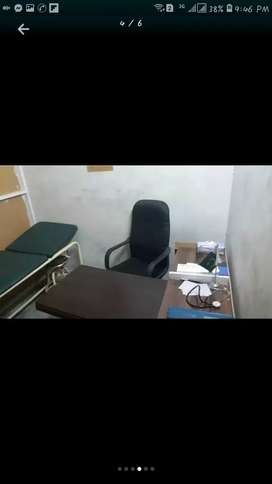 Furnished clinic for rent homeo and Allopathic doctor can contact