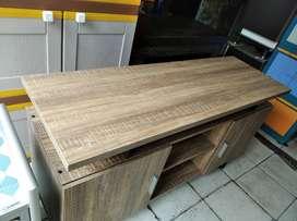 rak tv corak kayu panjang 120cm model minimalis siap antar