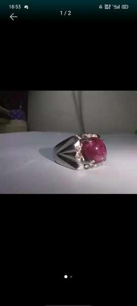 Cincin Akik Batu Ruby Tanzania
