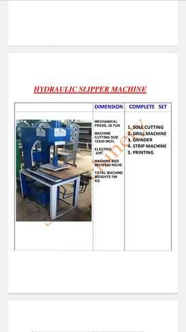 Chappal cutting hydraulic machine 20 ton pressure rs 70000