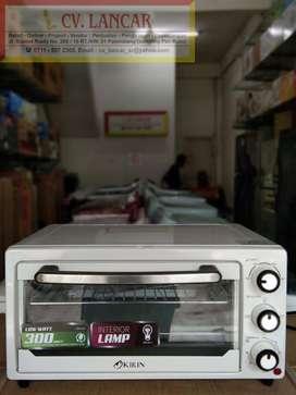 Oven KIRIN 16L (Low watt dengan lampu) GRATIS Ongkir bayar dirumah