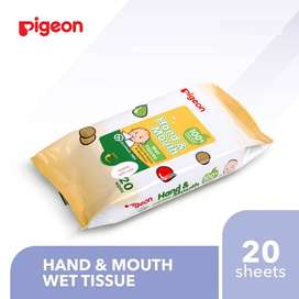 Pigeon Hand and Mouth Wipes isi 20