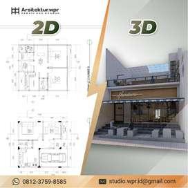 Jasa Desain / Gambar 2D dan 3D Rumah CUMA Rp. 5.000 per m2