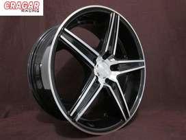 pelek racing mazda6 ring 18 hsr emission warna black polish