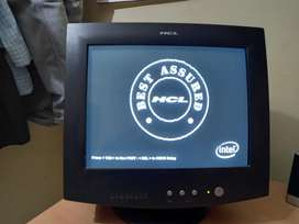 """Branded HCL 38cm (15,"""") CRT Coloured Monitor"""