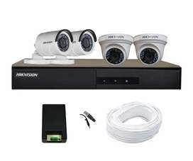 CCTV 4 camera with complete installation