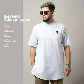 Samase Jogja Baju Koko Muslim Kurta Basic Pendek | Baju Koko Putih