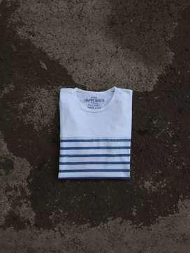 T shirt stripe happy when