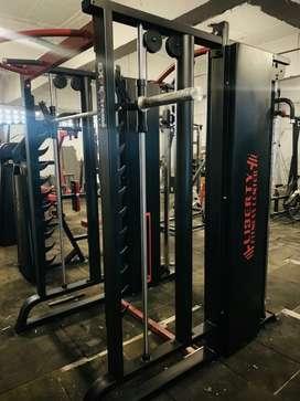 Smith machine plus functional trainer plus multi adjustable bench