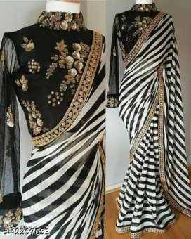 Womens fancy heavy work blouse with saree