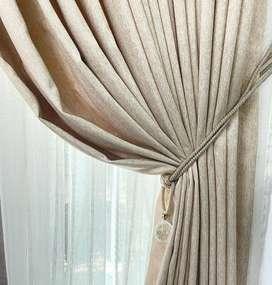 Curtain dan Wallpaper Dinding Gratis Pasang Gorden Hordeng KordenCurta