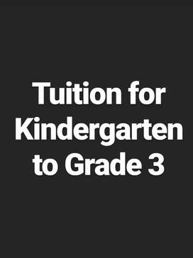 Tuition The from Kindergarten to Grade 3