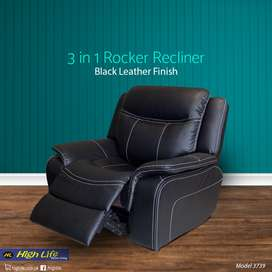 3in1 rocker recliner with leather finish (HIGHLIFE)
