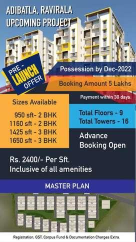 Adibatala flats for sales