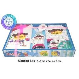 Paket Baby Gift Set Setelan Baju Celana Sisir Kado Hadiah Lahiran Pink