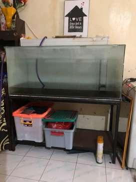 Aquarium dan rak uk 120x50x50