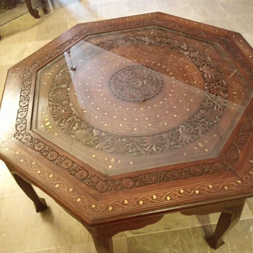 Big size Chinyoti center table, perfect for drawing room 0
