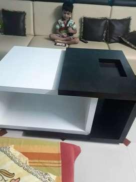 Coffee table (height 2 feet,length 4 feet,width 2.5 feet)