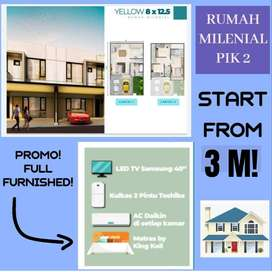TERBARU di PIK 2! Rumah Milenial Full Furnished kawasan Utara Jakarta!