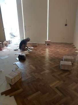 Jual flooring kayu jati dan finishing milamin dico