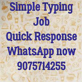 Home based Typing work with daily payment