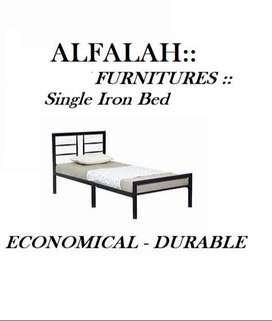 Guaranted New Single Iron Bed Durable and Good Looking in all colors