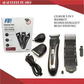 Alat Cukur 3in1 Electric Hair Clipper dengan multifungsi 3 fungsi