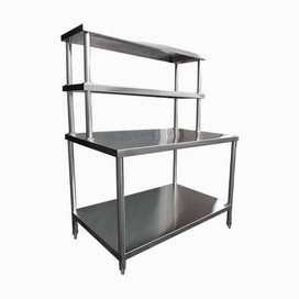 Meja Stainless Preparation (Ekstra Shelves)