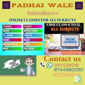 ONLINE TUTION CLASSES FOR ALL SUBJECTS