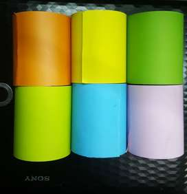 Thermal Paper Rolls Colour and White Paper