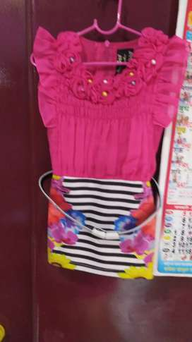Girls ke kapde for kids new garments and one thime use