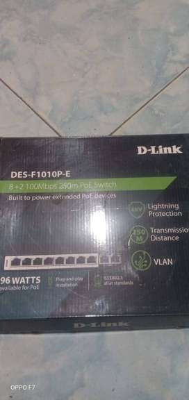 D-Link DES-F1010P-E  Switch With 8 PoE Ports