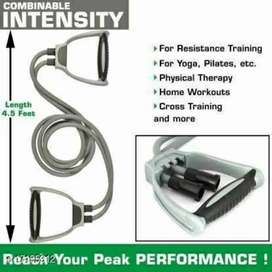 Double Toning Tube Resistance Exercise Bands
