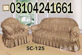 Sofa Covers there. Hard-used doors show many coats of paint with